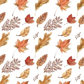 Tle akwarela jasna koronkowa jesień