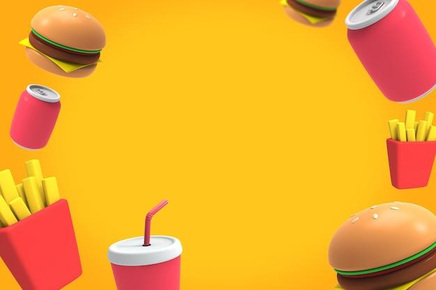 Tło 3d fast food-02