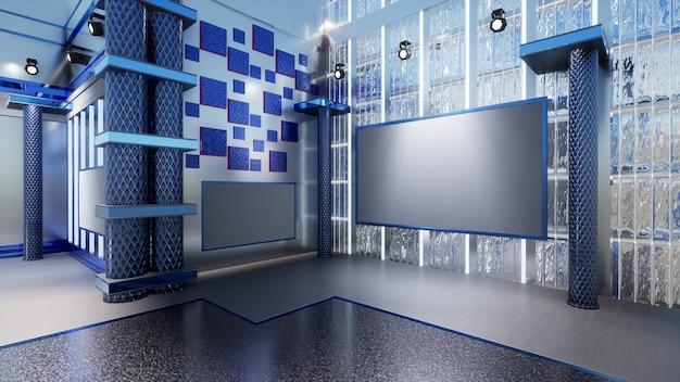 Tło 3d virtual news studio