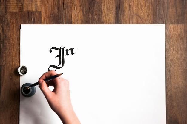 Tło atramentu literowego