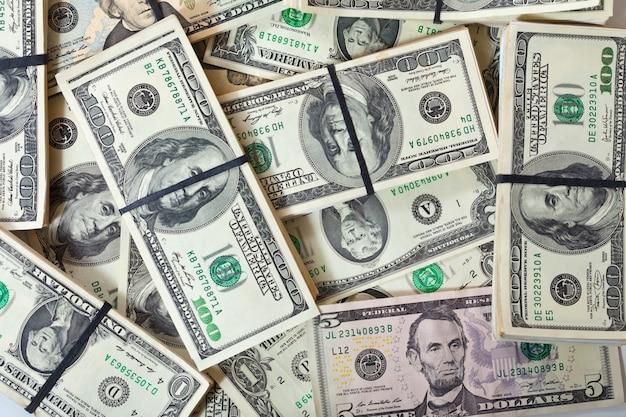 Tło banknotów dolarów
