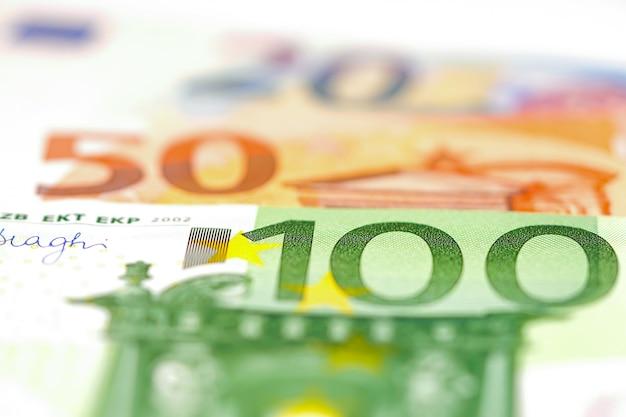 Tło banknotów euro.