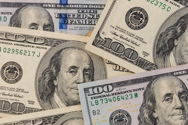 Tło banknotów studolarowych