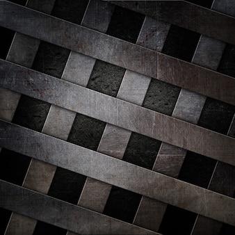 Tło betonu i metalu w stylu grunge z zadrapaniami i plamami