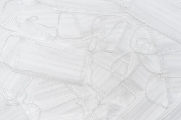 Tło białe maski medyczne