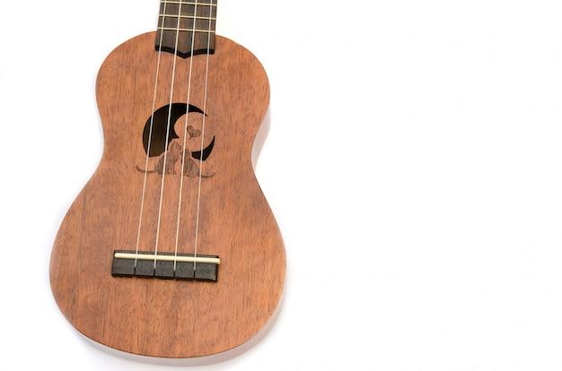 Tło białe ukulele