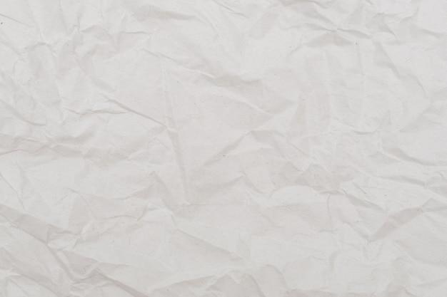 Tło białe zmięty papier