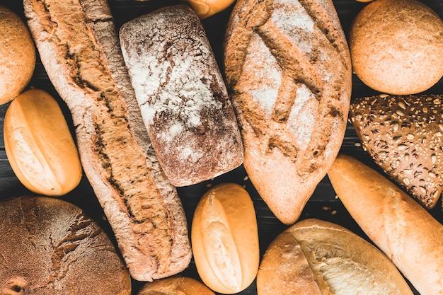 Tło bochenków chleba