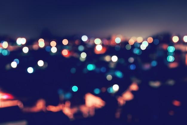 Tło bokeh światła miasta
