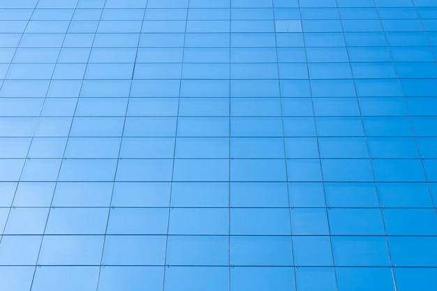 Tło budynku biurowego błękitny szklany okno