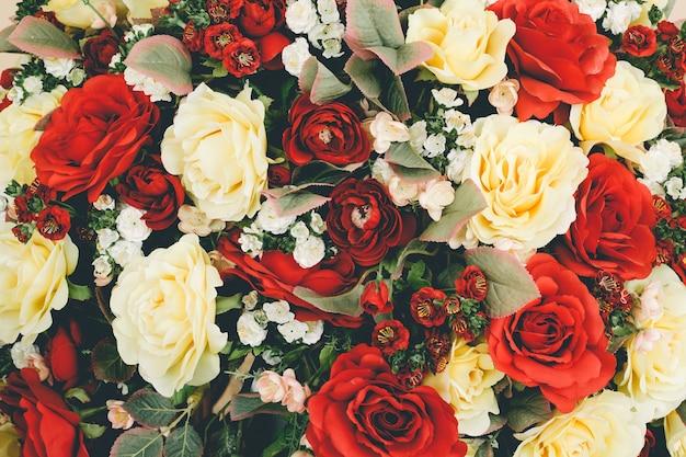 Tło bukiety kwiatów róży