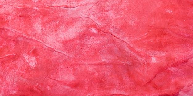 Tło czerwone gwasz, nierówno nałożona farba na papierze