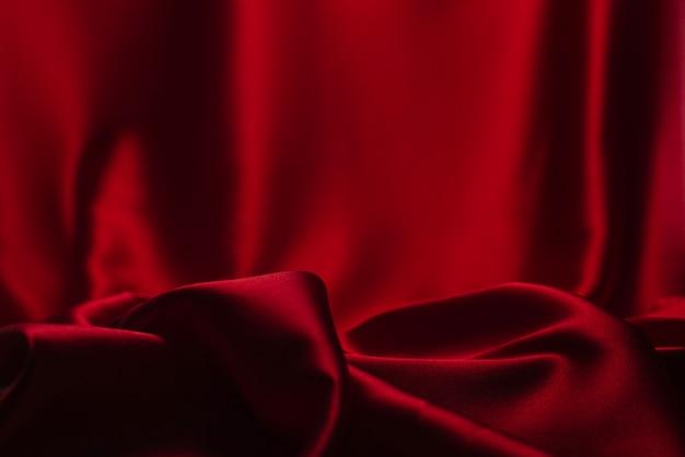 Tło czerwone satynowe tkaniny