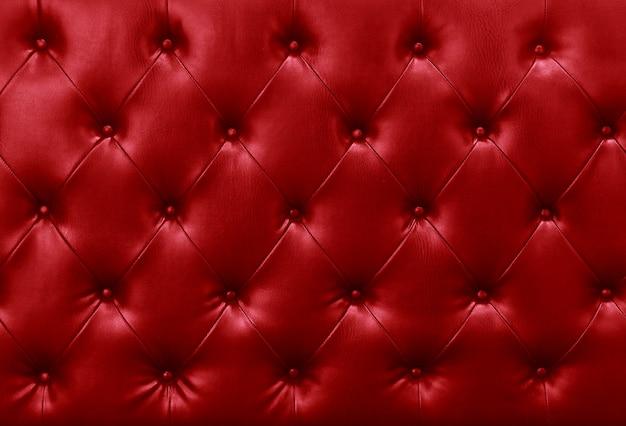 Tło czerwone skórzane kanapy