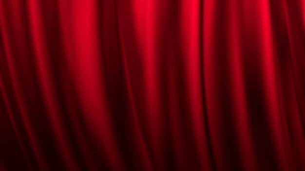 Tło czerwone zasłony teatru sceny