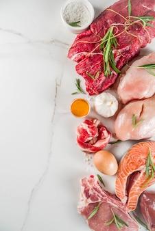 Tło diety białko mięsożerne