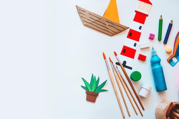 Tło dla przedszkola lub przedszkola lub zajęć plastycznych