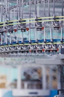 Tło do produkcji tekstyliów dzianina okrągła