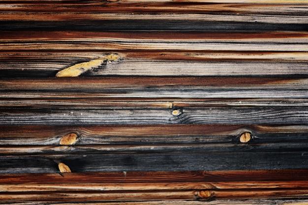 Tło drewniana ściana zewnętrzna