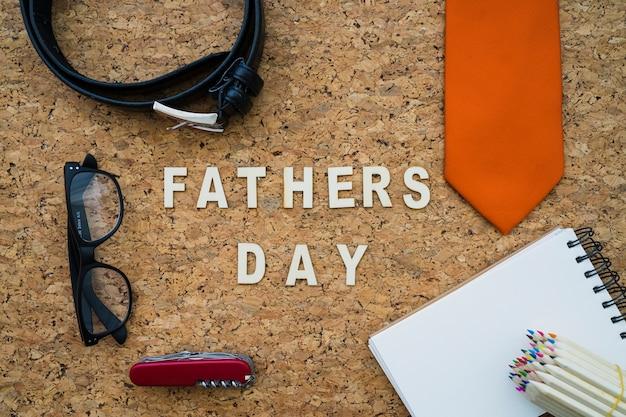 Tło dzień ojca z elementami dekoracyjnymi