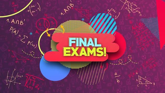 Tło egzaminów szkolnych
