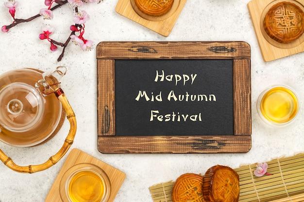 Tło festiwalu połowy jesieni
