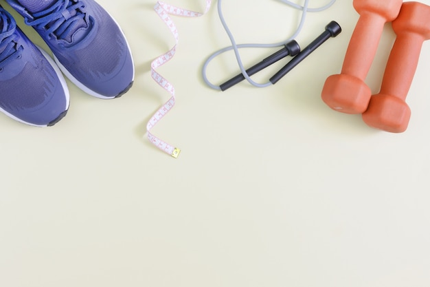 Tło fitness z miejscem na tekst.