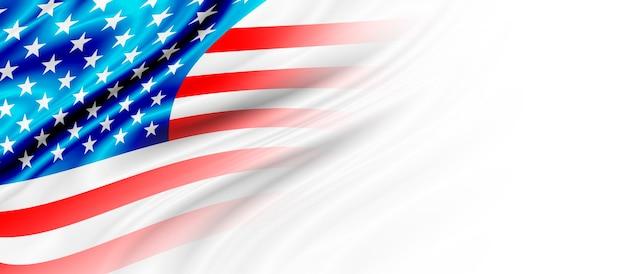 Tło flagi usa lub ameryki z miejsca na kopię
