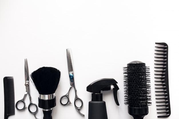 Tło fryzjer pr salonu włosów
