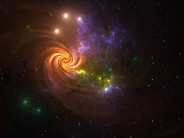 Tło galaktyki mgławicy