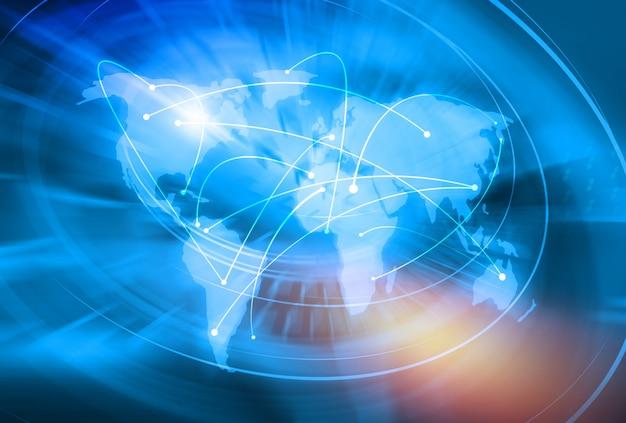 Tło globalnego połączenia