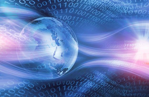 Tło graficzne cyfrowy świat