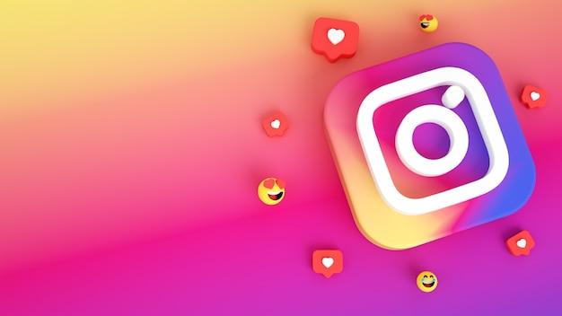 Tło ikony instagram z miejsca na kopię