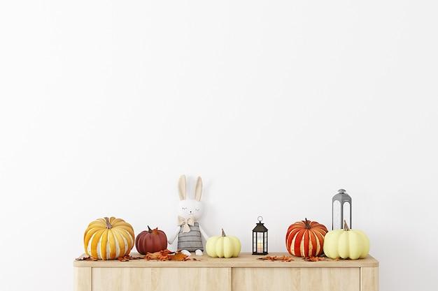 Tło jesień dla dzieci z dyniami
