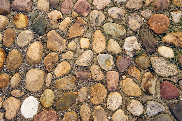 Tło kamiennego chodnika na starym mieście