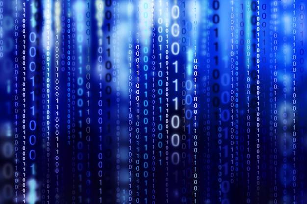 Tło kodu binarnego