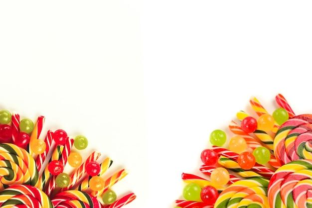 Tło kolorowe cukierki