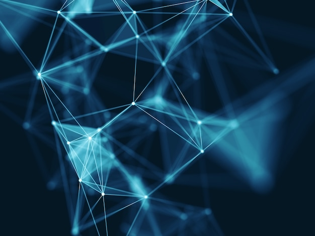 Tło komunikacji nowoczesnej sieci nauki 3d