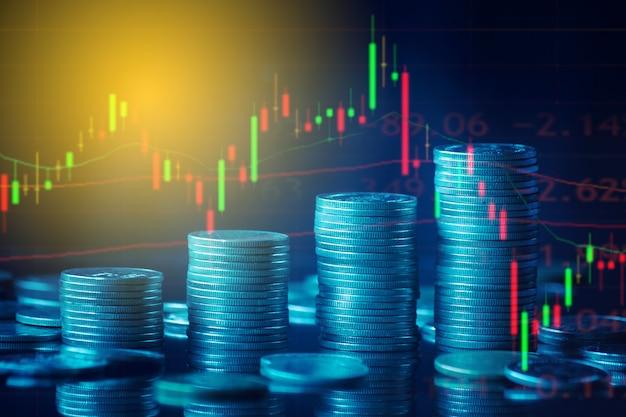 Tło koncepcji finansów i biznesu oraz wykres handlu forex