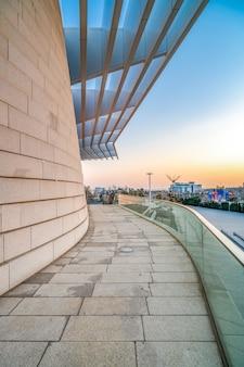 Tło krajobraz miejski nowoczesnej architektury