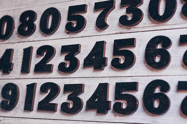 Tło liczb od zera do dziewięciu