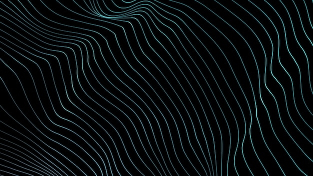 Tło linii. linia abstrakcyjna. wzór w paski, element curve neon. dynamiczne tło. okładka prezentacji. niebieski kolor