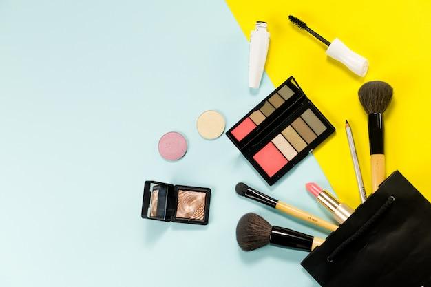 Tło makijaż produktu kosmetycznego na kolor powierzchni.