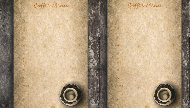 Tło menu peper kawy