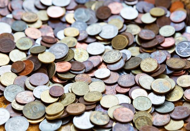 Tło monet różnych krajów