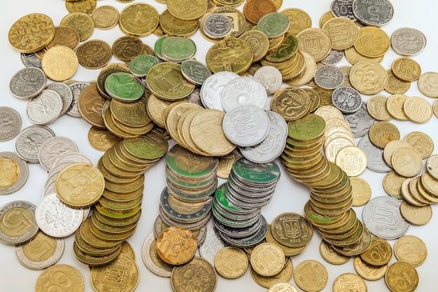 Tło monety różnych krajów