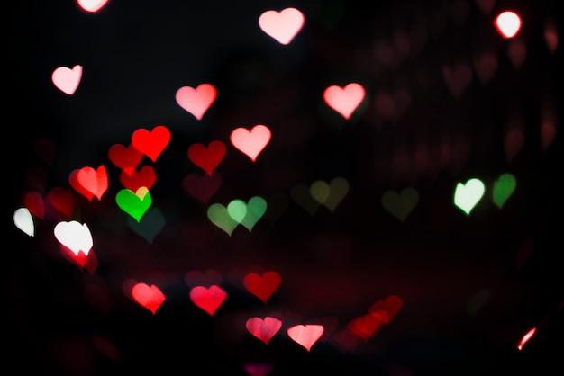 Tło neonowe światła w kształcie serca