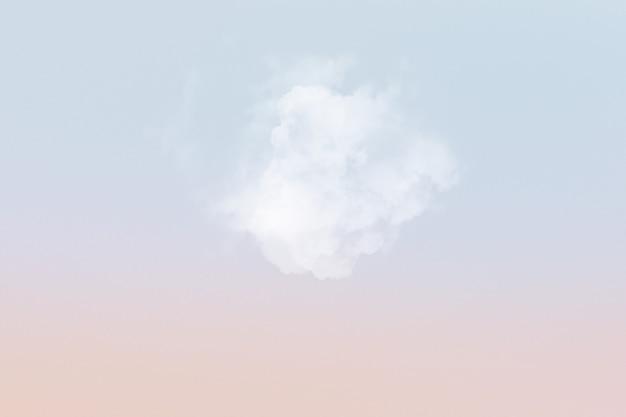Tło nieba z białą chmurą
