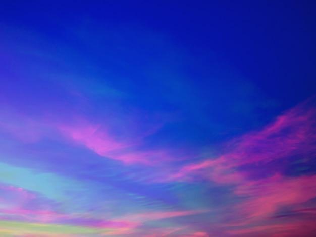 Tło nieba zmierzch z kolorowe niebo w tle zmierzchu
