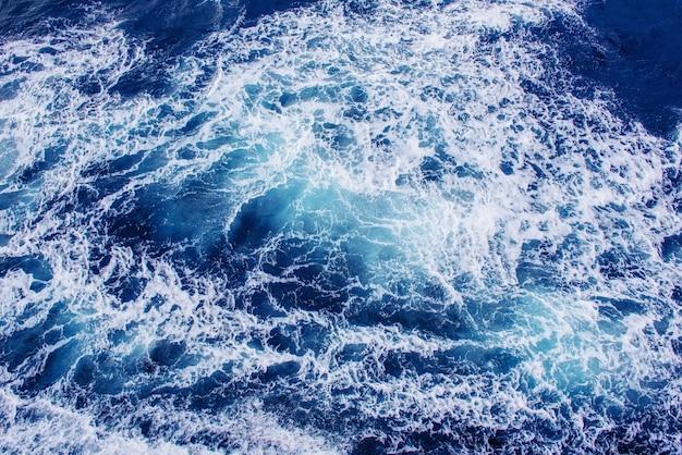 Tło niebieskie fale morza